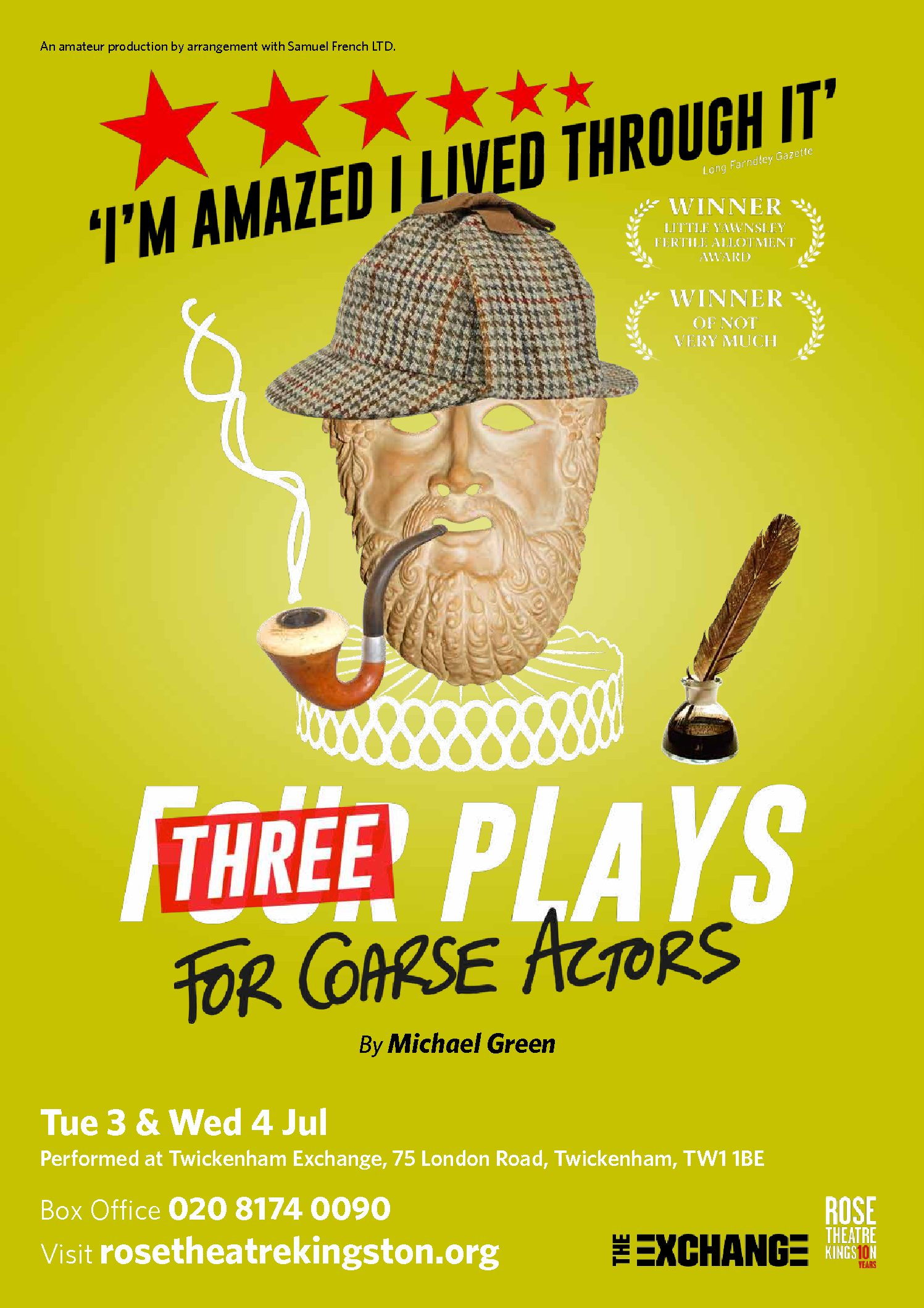 Three Plays For Coarse Actors All S Well That Ends As You Like It